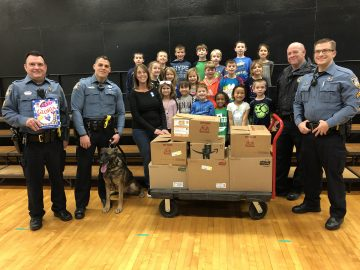 Local police challenge Whitemarsh Elementary to a food drive