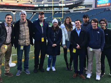 CITV students went behind-the-scenes at Lincoln Financial Field