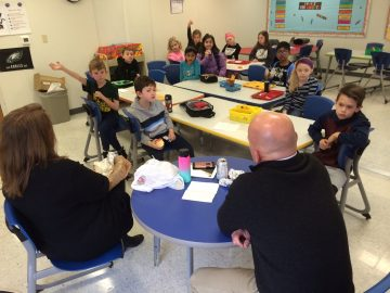 Visiting author shared reading, writing and science at Ridge Park Elementary School