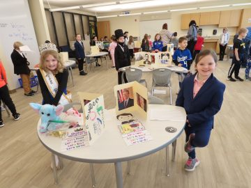 Gill Hall Elementary second graders create Living Wax Museum