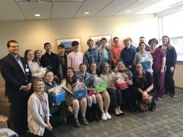 National Junior Honor Society students show cancer patients they care