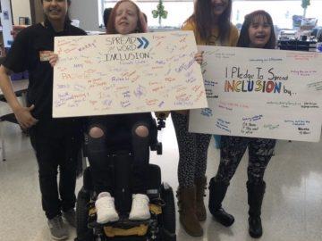 Thomas Jefferson High School Best Buddies Club promotes inclusion pledge