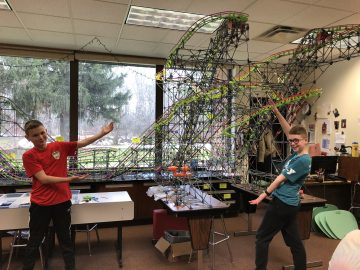 Middle school students build amusement park with K'Nex