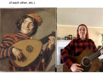 TJHS French students recreate famous works of art