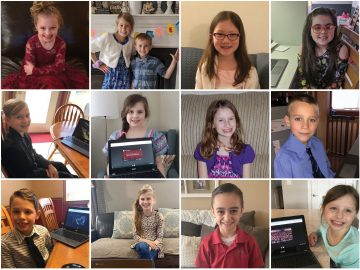 Elementary Students Attend Online Concert